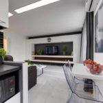 вариант красивого декора кухни гостиной 16 кв.м картинка