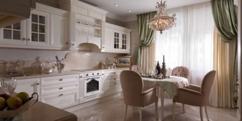 вариант яркого интерьера кухни фото