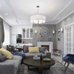 вариант светлого дизайна прованс в гостиной комнате фото