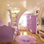 пример красивого дизайна спальни для девочки фото
