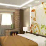 идея красивого интерьера спальной комнаты фото