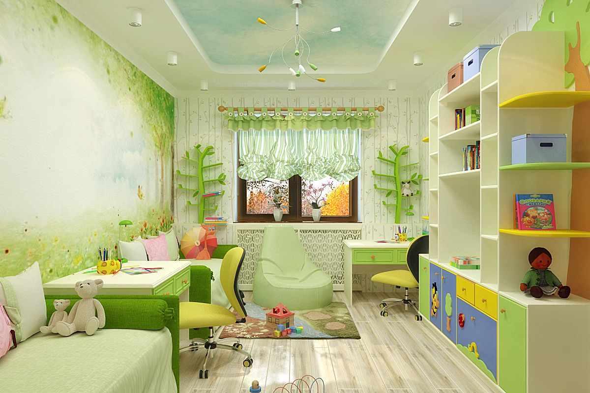 идея яркого стиля детской комнаты