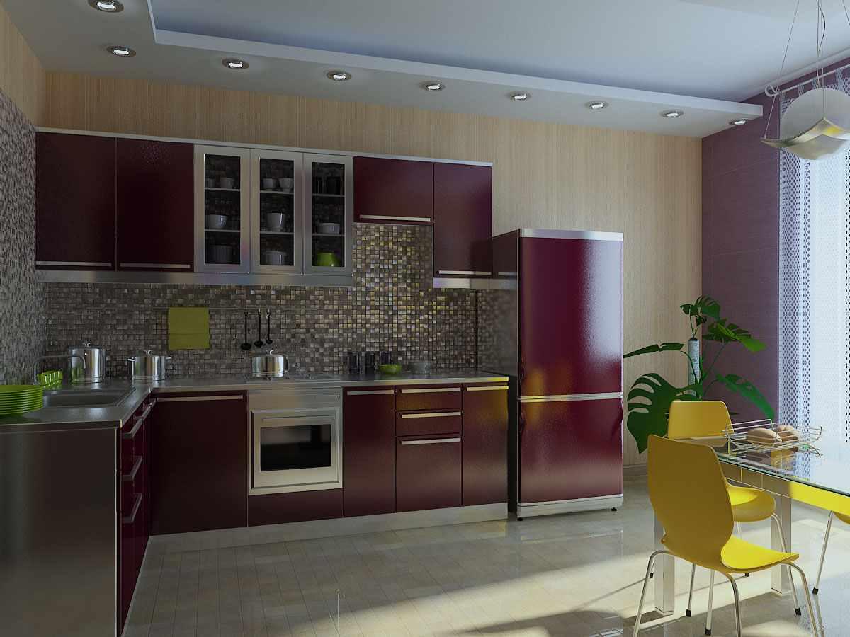 пример светлого дизайна кухни