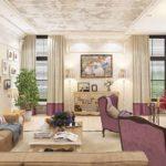 вариант необычного интерьера прованс в гостиной комнате фото
