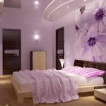 пример красивого дизайна спальной комнаты в хрущевке фото