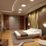 вариант необычного дизайна спальни в мансарде фото