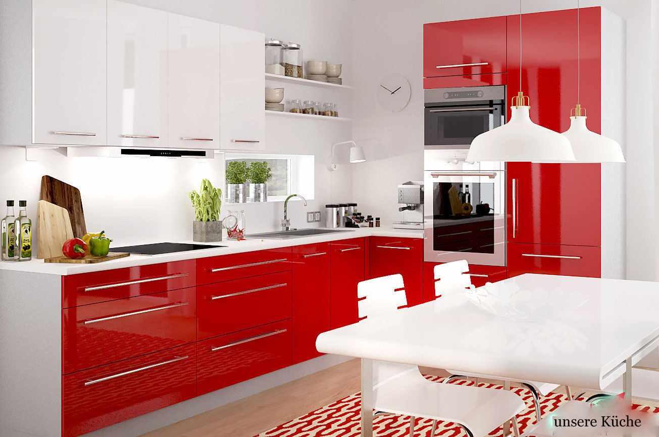 кухня в красно-бело-черном цвете фото кстати, много занималась