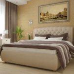 пример необычного дизайна спальни картинка