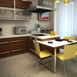 вариант необычного интерьера угловой кухни фото