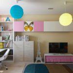 идея яркого стиля детской комнаты фото
