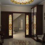 вариант светлого стиля прихожей комнаты в частном доме фото