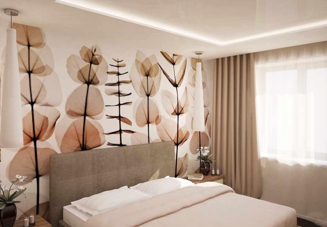 вариант необычного дизайна спальной комнаты в хрущевке