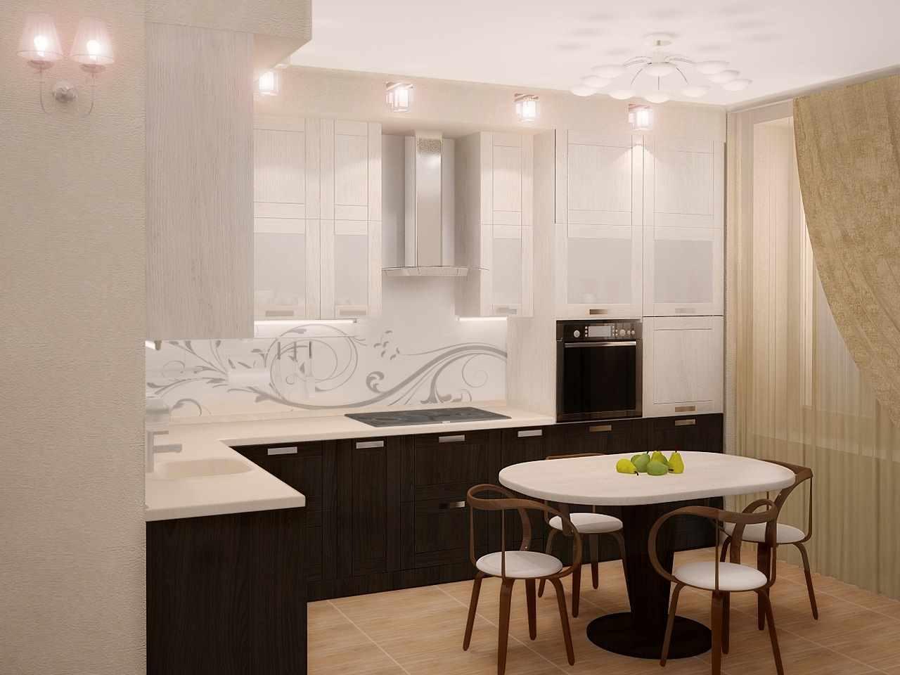 пример яркого интерьера кухни