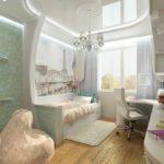 пример необычного интерьера спальни для девочки картинка