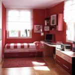 идея красивого интерьера спальной комнаты в хрущевке фото