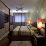 вариант красивого дизайна спальной комнаты в хрущевке картинка