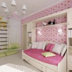 вариант яркого интерьера спальни для девочки картинка