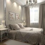 пример необычного стиля спальной комнаты в хрущевке фото