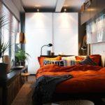 идея необычного декора спальной комнаты фото