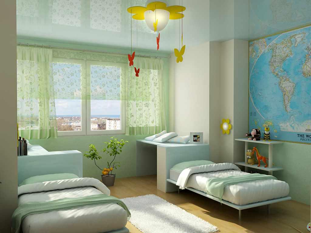 идея красивого декора детской комнаты