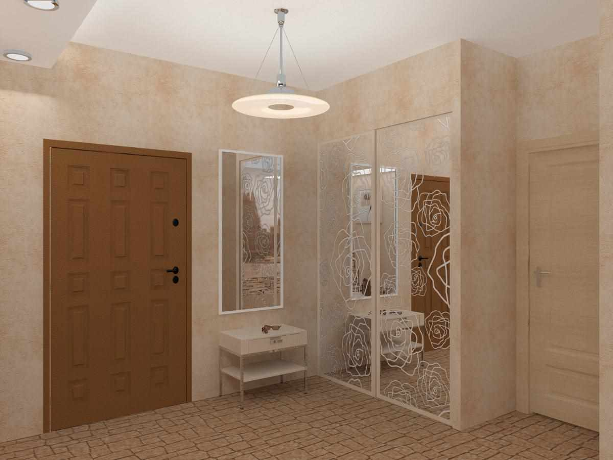 вариант необычного декора коридора в частном доме