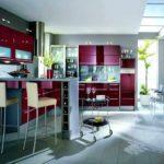пример красивого дизайна красной кухни картинка