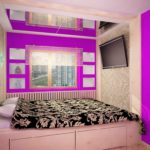 пример красивого стиля спальни в хрущевке картинка