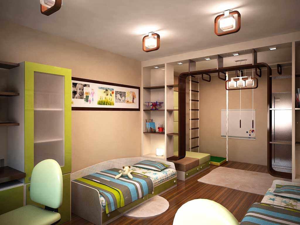 пример светлого дизайна детской комнаты