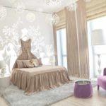 пример яркого дизайна спальни для девочки фото