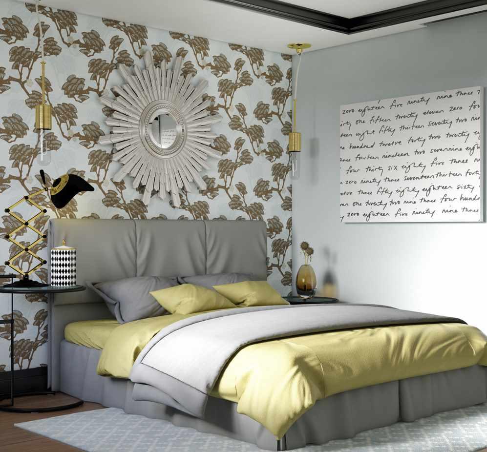 пример светлого стиля спальной комнаты в хрущевке
