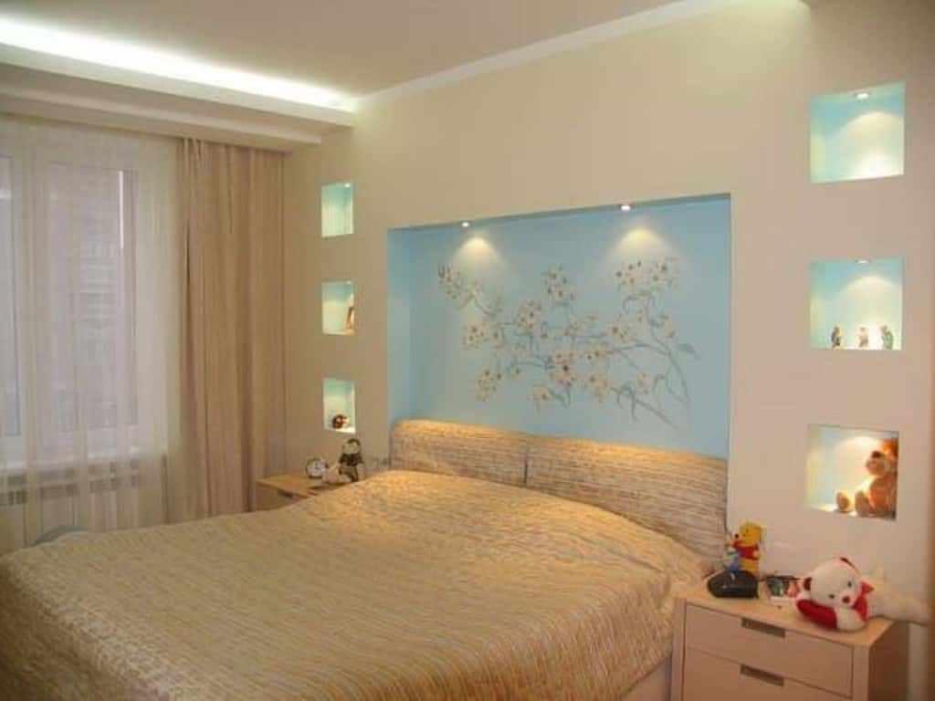 идея светлого декора спальни