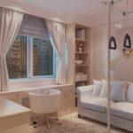 пример необычного стиля детской комнаты картинка