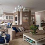 пример красивого декора прованс в гостиной комнате картинка