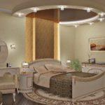 пример яркого дизайна спальни в хрущевке картинка
