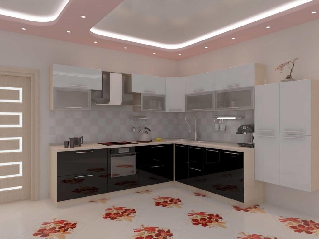 идея яркого стиля угловой кухни