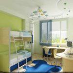вариант необычного интерьера детской комнаты картинка