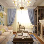 идея яркого дизайна прованс в гостиной фото