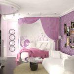 идея необычного декора спальни для девочки картинка