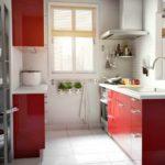 идея красивого декора красной кухни картинка