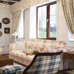 вариант красивого декора прованс в гостиной комнате фото