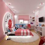 пример светлого стиля спальной комнаты для девочки фото