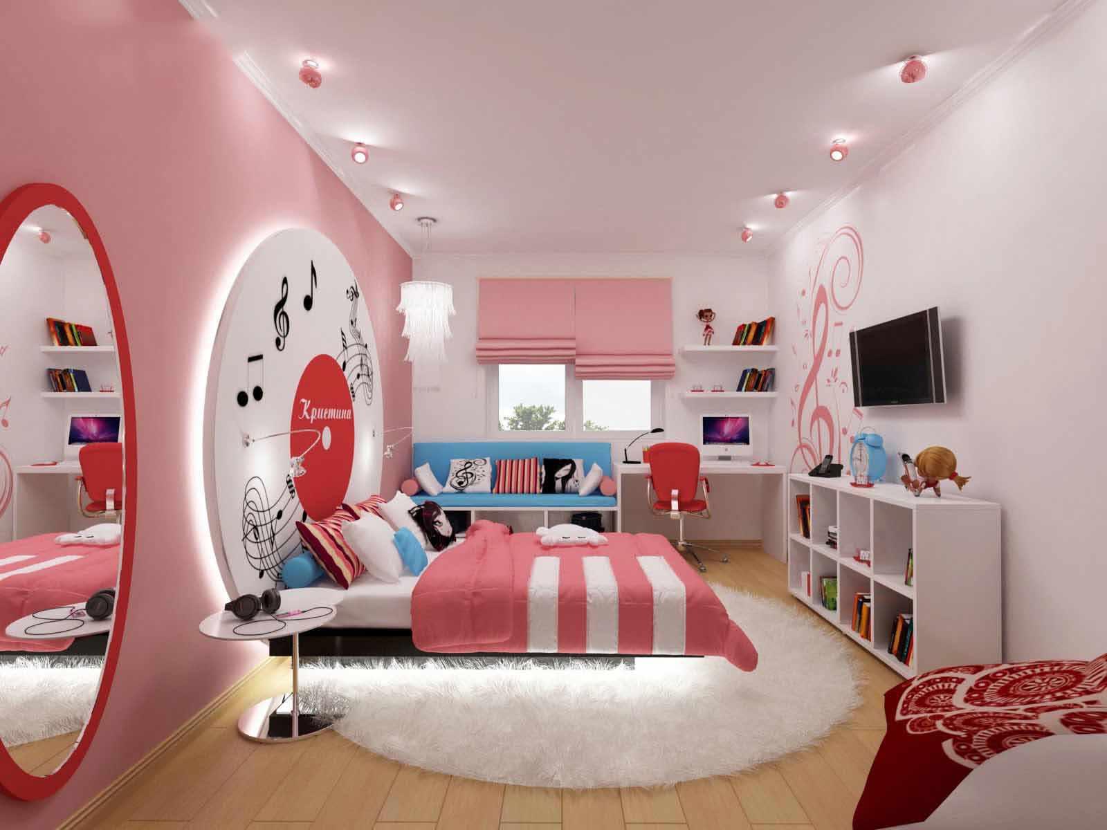 Картинки дизайн комнаты для девушки