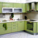 пример яркого стиля угловой кухни картинка