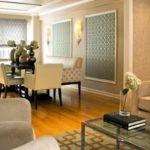 идея красивого интерьера обоев для гостиной фото
