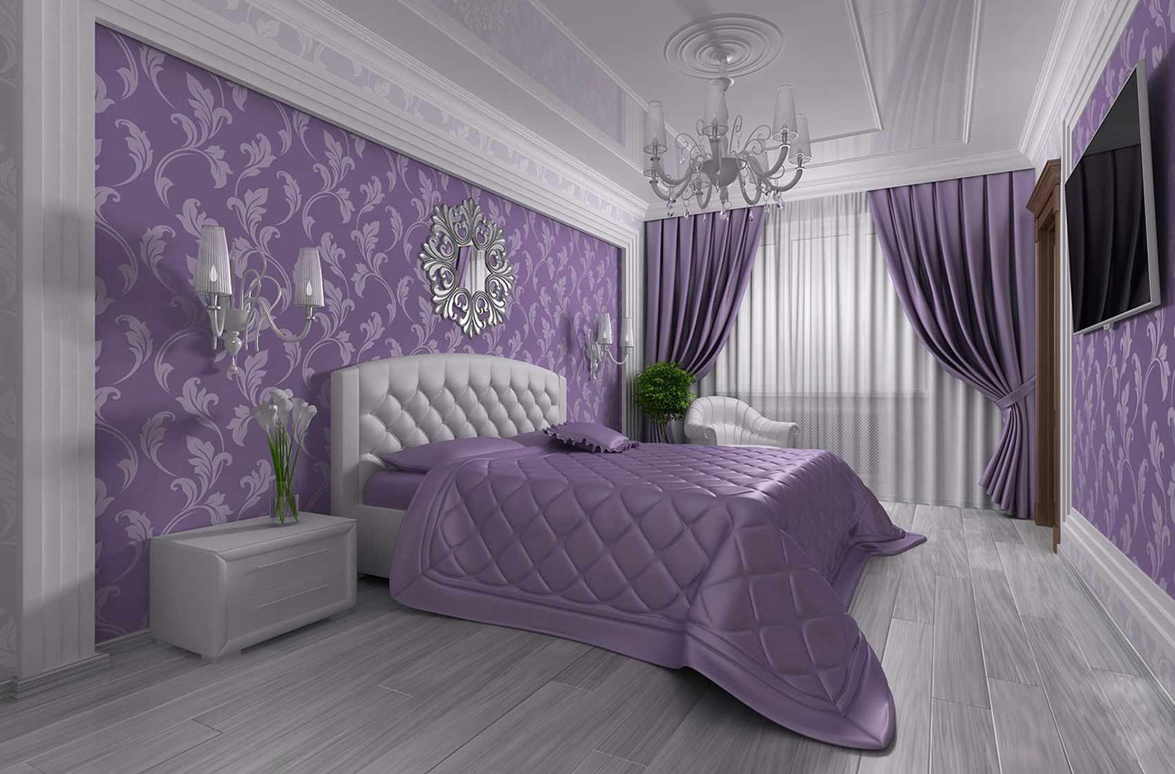 пример красивого стиля спальни