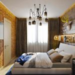 пример яркого декора спальни фото