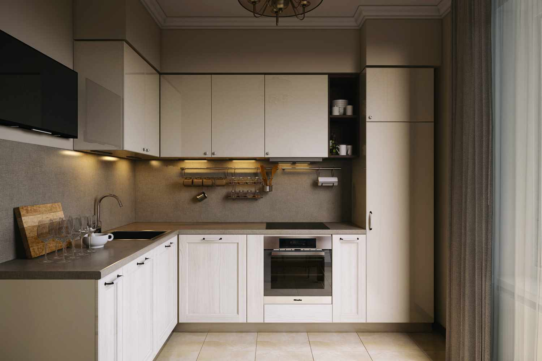пример светлого декора кухни