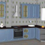 вариант светлого дизайна кухни с газовым котлом картинка