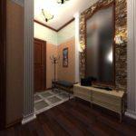 пример красивого декора прихожей комнаты в частном доме фото