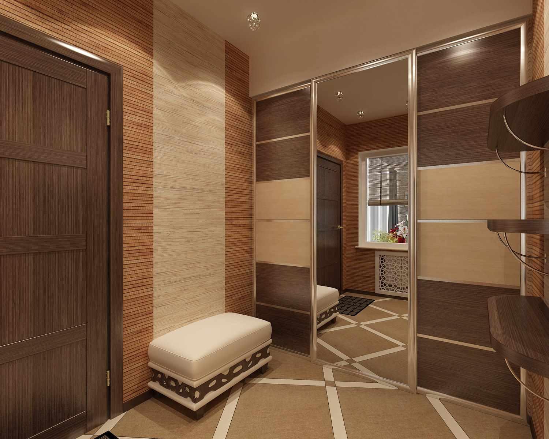 пример красивого стиля коридора в частном доме
